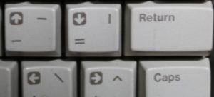 Atari 65xe Basic keys