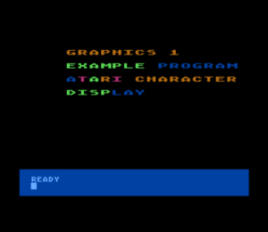 Atari Graphics 1 Mode