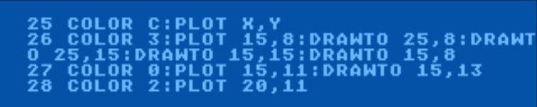 Atari Basic Locate