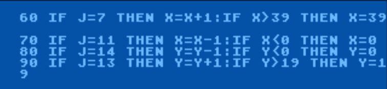 Locate command for Atari Basic