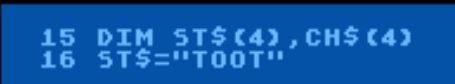Sounds for the Atari 65xe train