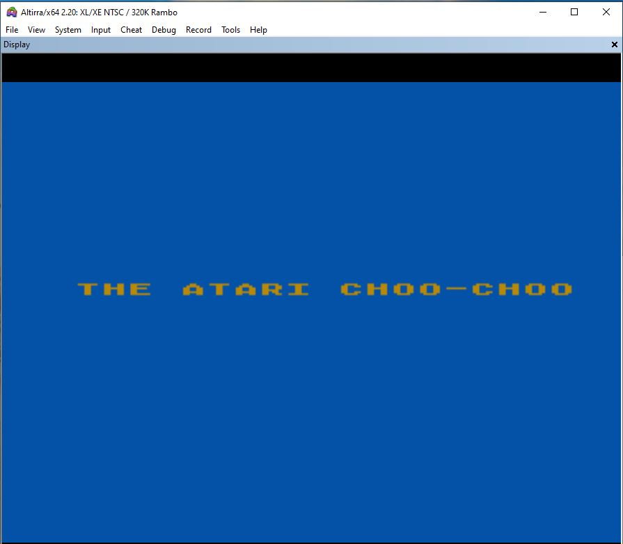 Atari 65xe Train Sound